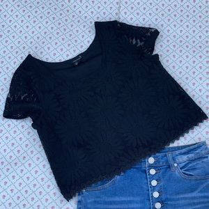 Forever 21 lace flower shirt